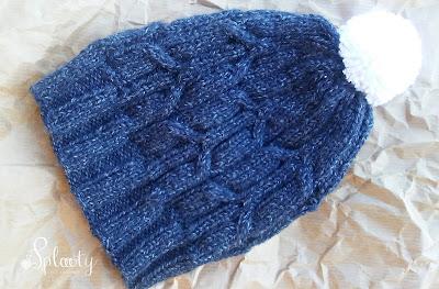 """czapka na drutach dla dziecka """"blue jeans bird"""""""