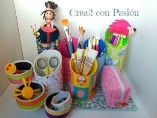 Organizador-de-materiales-de-escritorio-reciclado-crea2conpasión