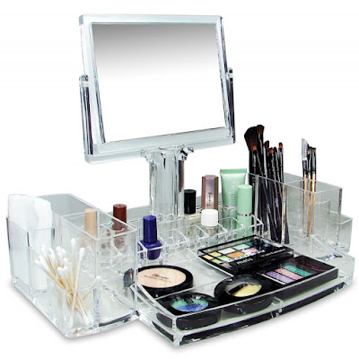 Get the Luxury Cosmetic Make Up Organizer With Two-Sided Mirror at Nile Corp