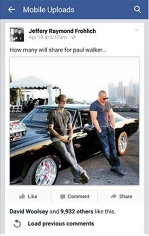 Gambar Hantu Paul Walker Viral Di Media Sosial