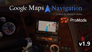 ets 2 google maps navigation for promods v1.9
