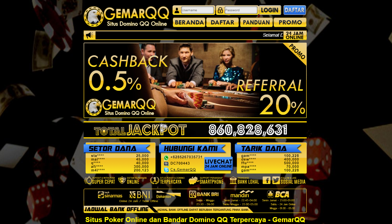 GemarQQ Situs Poker Domino QQ 99 Terbaik Dan Terpercaya 2019