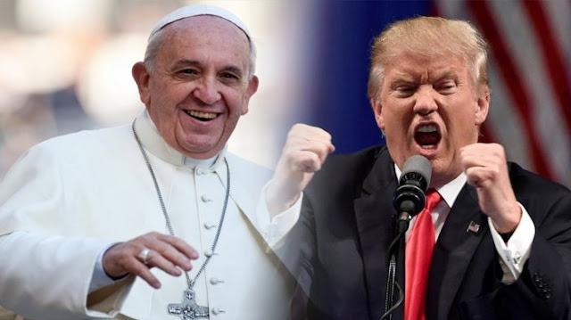 Aksi Lucu Paus Fransiskus dan Donald Trump