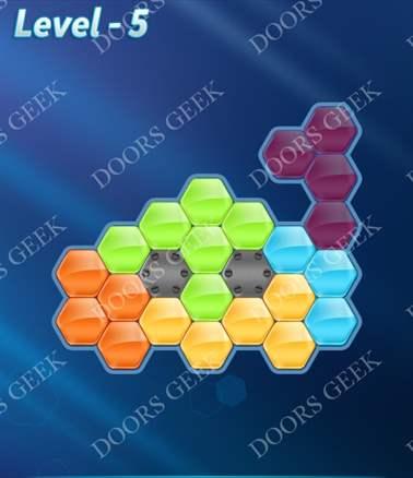 Block! Hexa Puzzle [Intermediate] Level 5 Solution, Cheats, Walkthrough for android, iphone, ipad, ipod