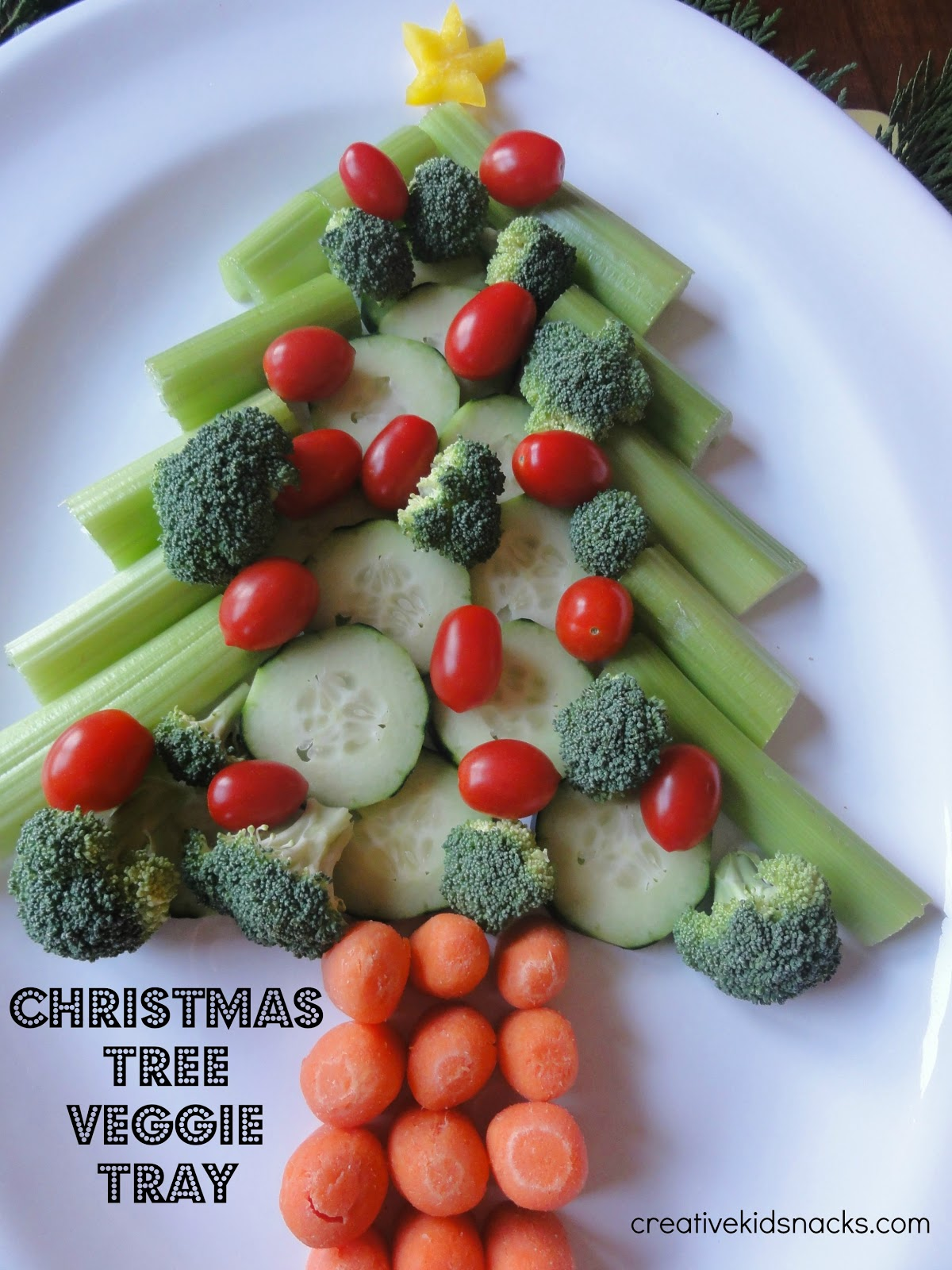 Christmas Veggie Tray.3 Creative Christmas Veggie Trays