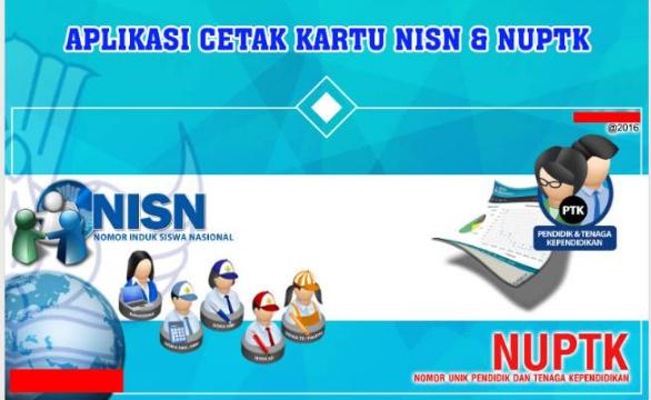 Satu Aplikasi Cetak Kartu NUPTK, NRG, NISN Paling Baru
