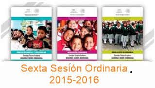 Sexta.Sesion.Consejo.Técnico.Escolar 2015-2016
