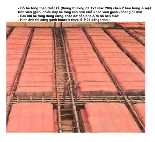 Hình ảnh thi công Gạch Hourdis Đồng Nai chống nóng sân thượng