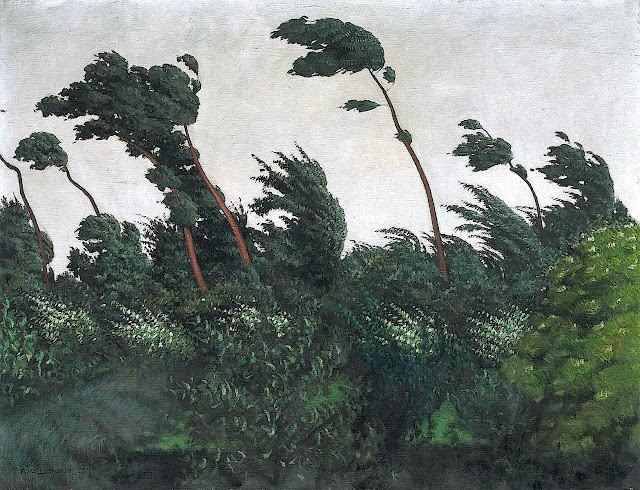 Felix Vallotton art, windy trees