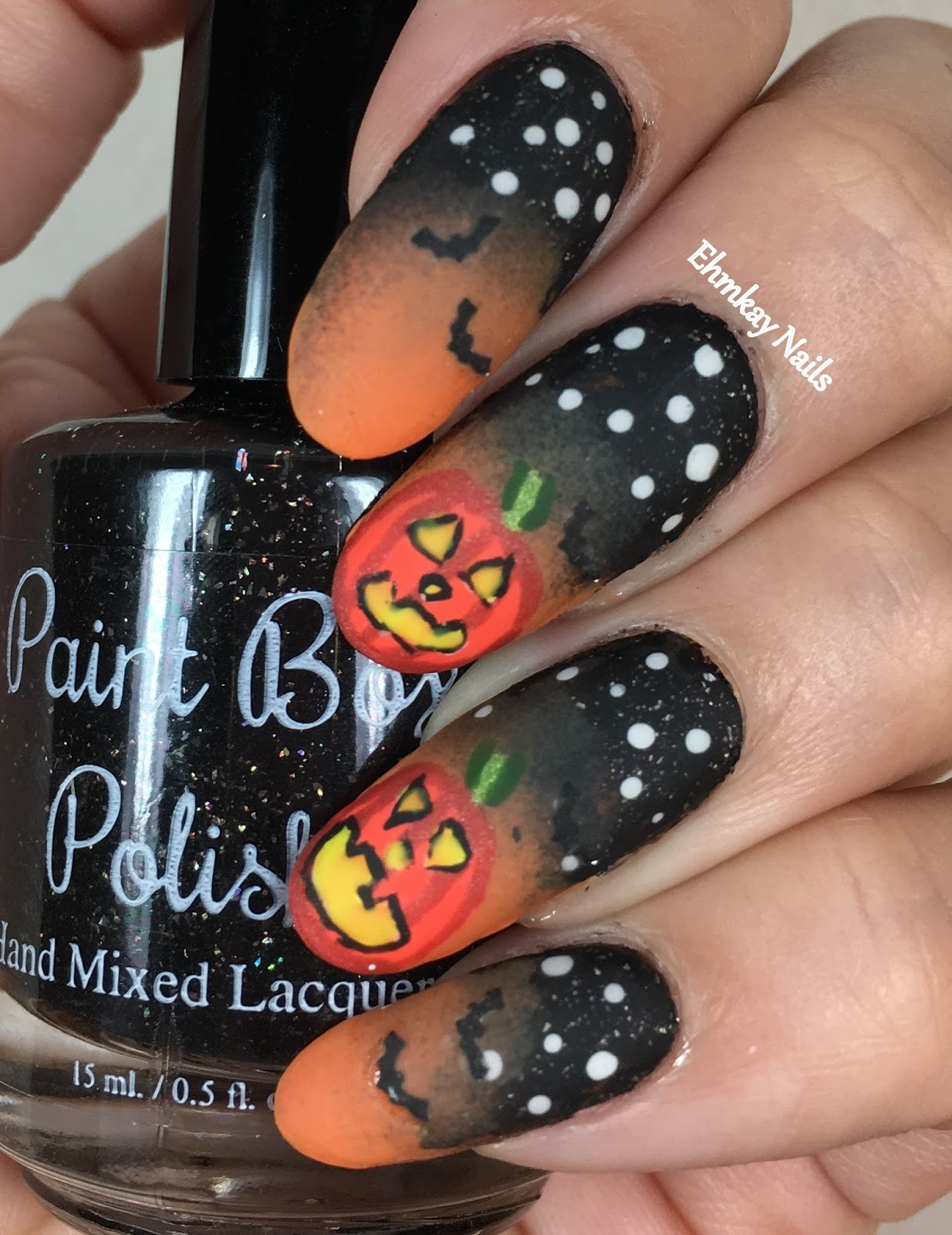Ehmkay nails halloween nail art glowing pumpkin nail art at the halloween nail art glowing pumpkin nail art at the great jack olantern blaze prinsesfo Choice Image