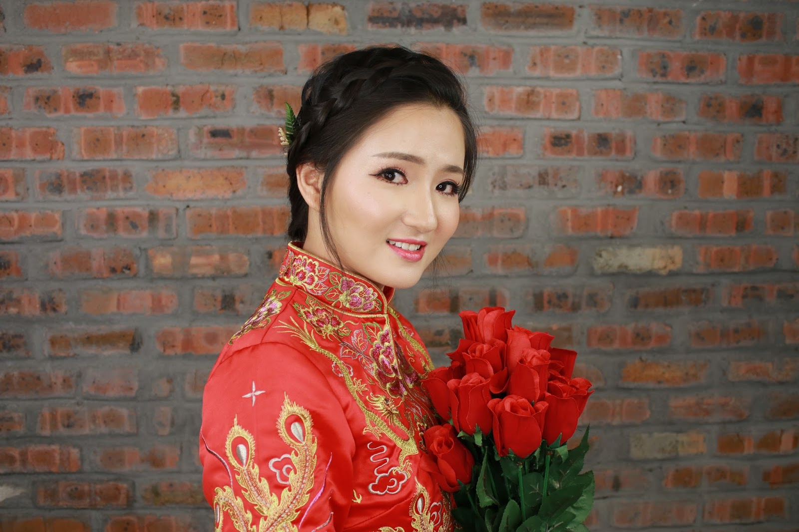 Makeup Transformation Before and After (Chinese Wedding Makeup