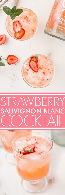 Strawberry Sauvignon Blanc Cocktail