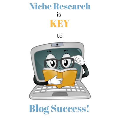 Image depicting niche research is key to blog success