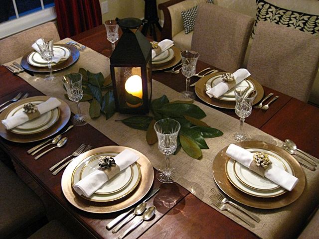 Eat sleep decorate easy thanksgiving table settings - Simple christmas table settings ...