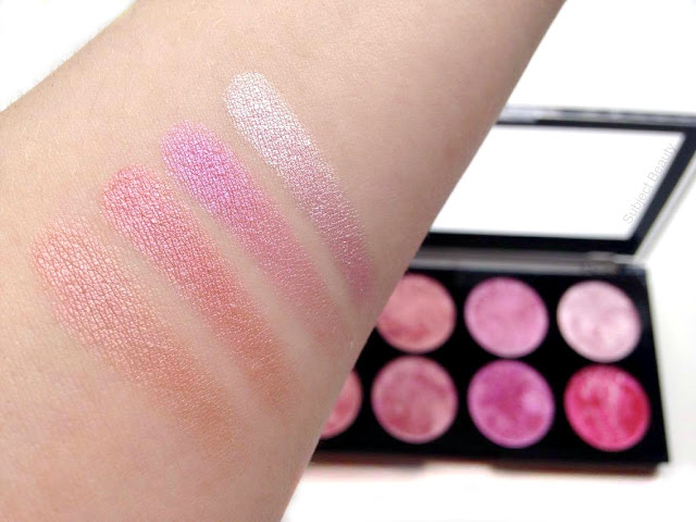 Makeup Revolution London Blush Queen Blush Palette Swatches