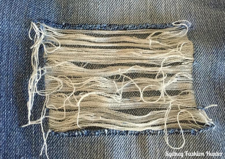 DIY Destroyed Jeans Step  - Make Holes