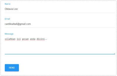 Cara Membuat Halama Kontak / Contact us di Blog