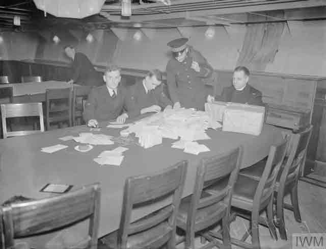 Preparing for Christmas on board HMS Victorious, 17 December 1941 worldwartwo.filminspector.com