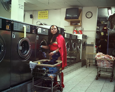 MARIA LUISA ROMERO from the State of Puebla works in a Laundromat in Brooklyn, New York. She sends 150 dollars a week. By Dulce Pinzon - Represented by Alida Anderson Art Projects, LLC