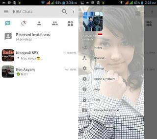 BBM Light Transparan v3.0.1.25 APK Change Background Terbaru