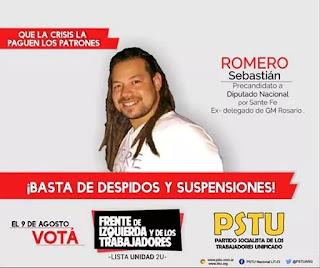 Sebastián Rodrigo Romero quedó retratado durante la protesta frente al Congreso
