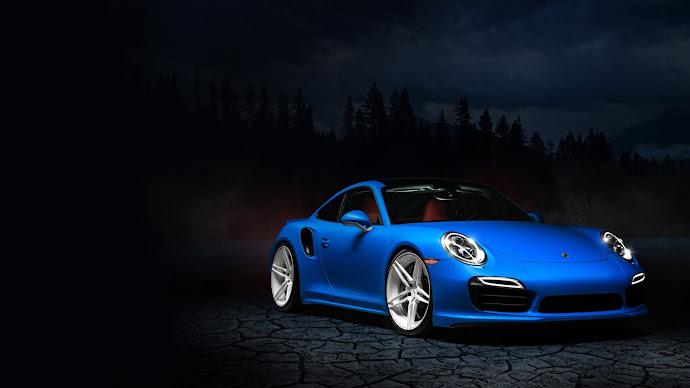 Wallpaper: HOT Blue Porsche