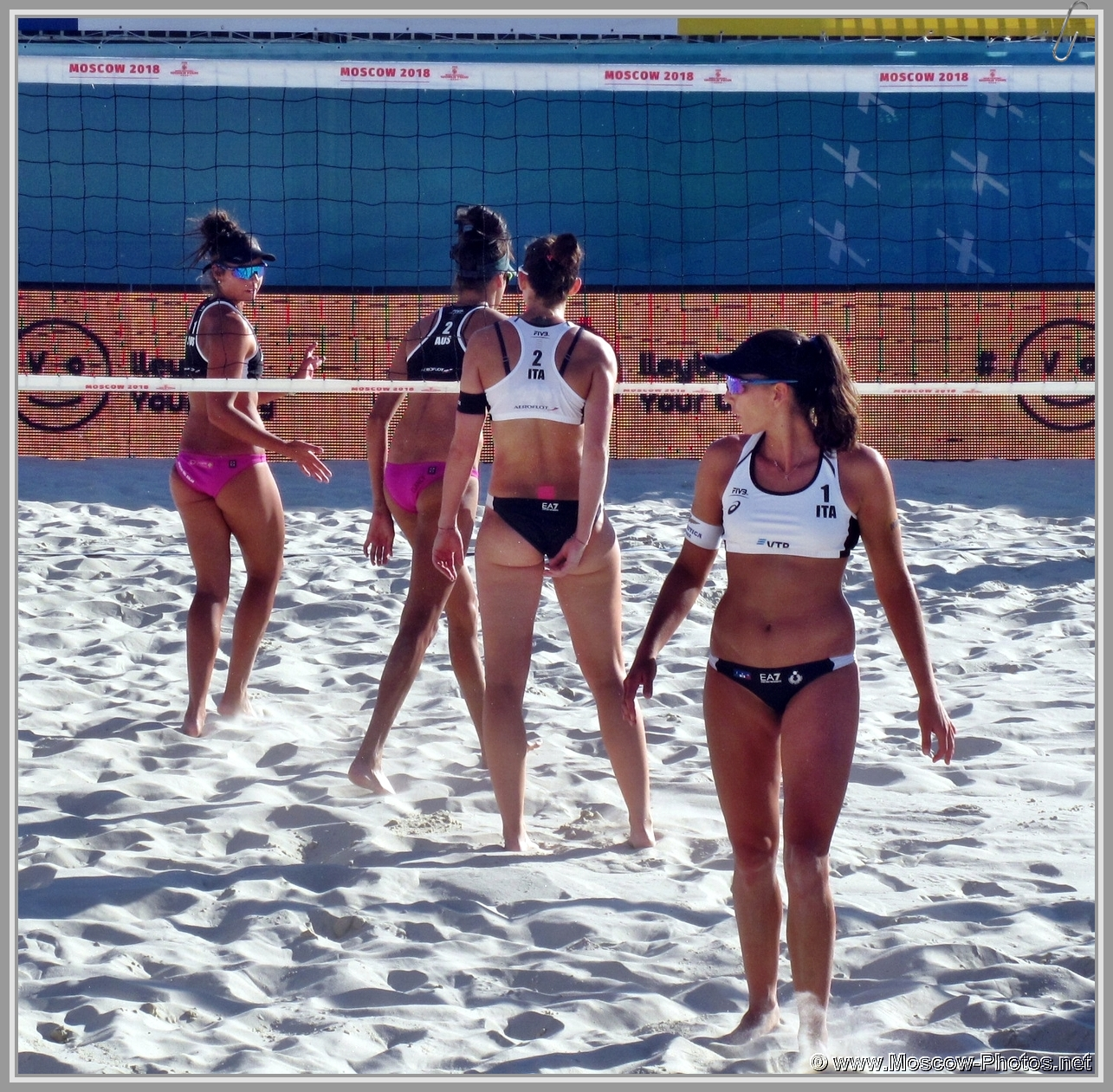 Marta Menegatti and Viktoria Orsi Toth - Italian Team at FIVB Beach Volleyball World Tour in Moscow