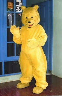 foto kostum bear kuning