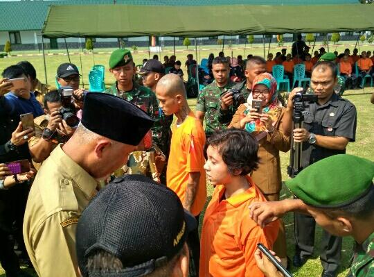 Anak jalanan di Kota Padang, Di bina di Batalyon Infanteri 133/Yudha Sakti