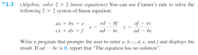 Exercise 3.3 - Algebra: Solve 2x2 Linear Equations