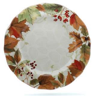 Thanksgiving Plates Fall Festivities