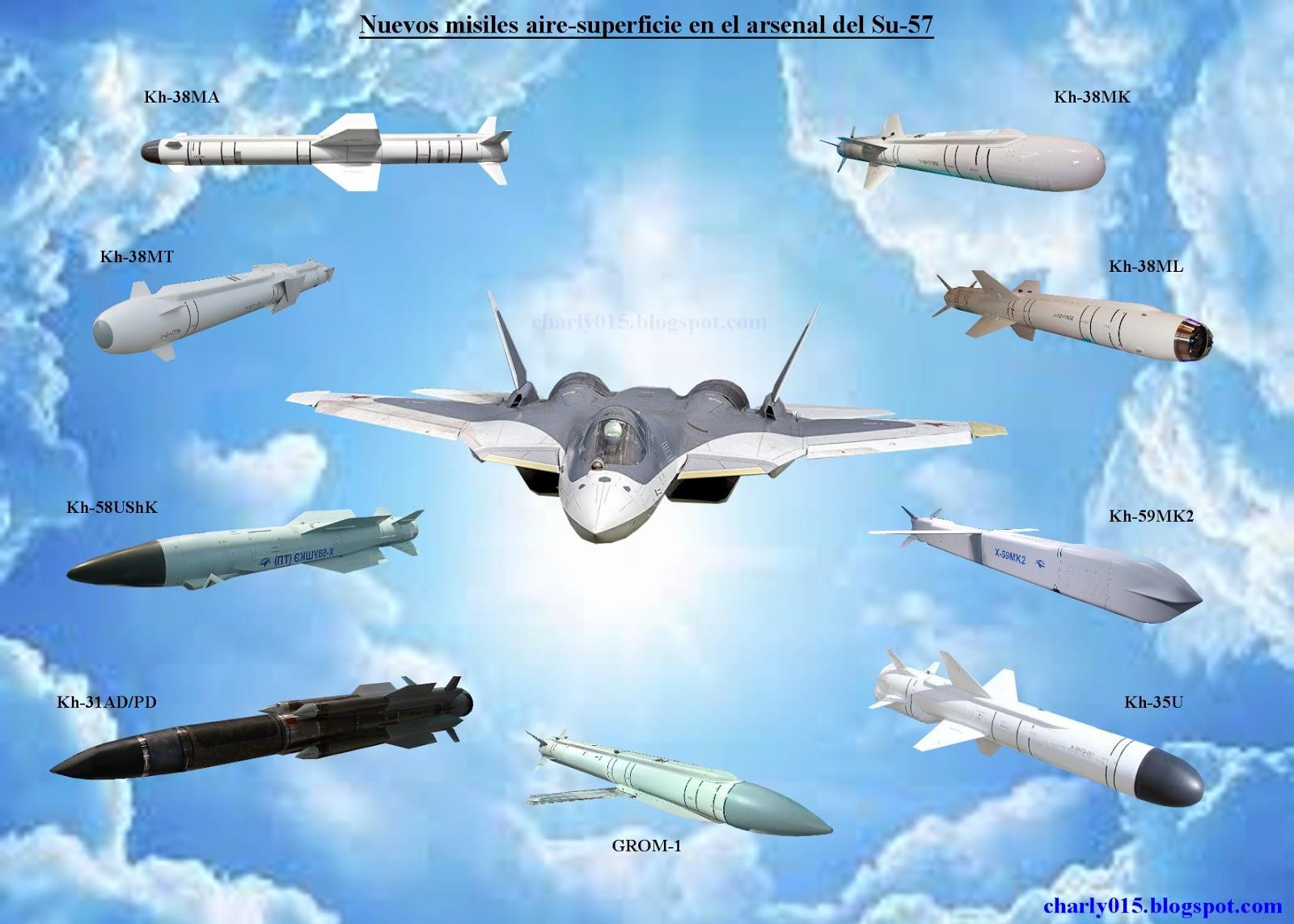 Su-57 Stealth Fighter: News #5 - Page 27 Su-57%2Barmamento%2Bmisiles%2Basm