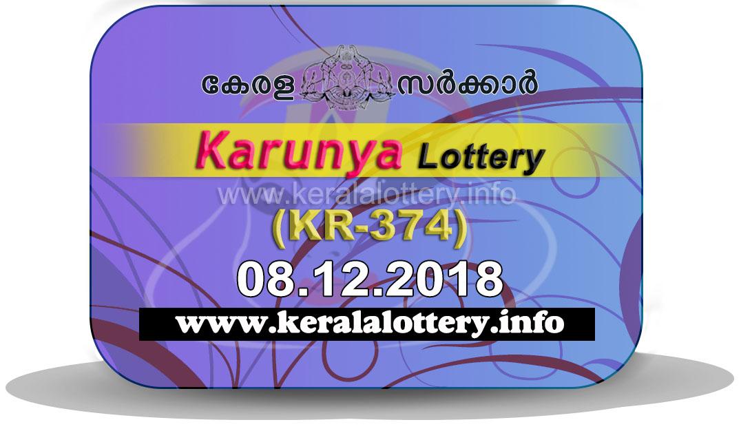 Kerala Lottery Results Today 08-12-2018 LIVE: Karunya KR-374