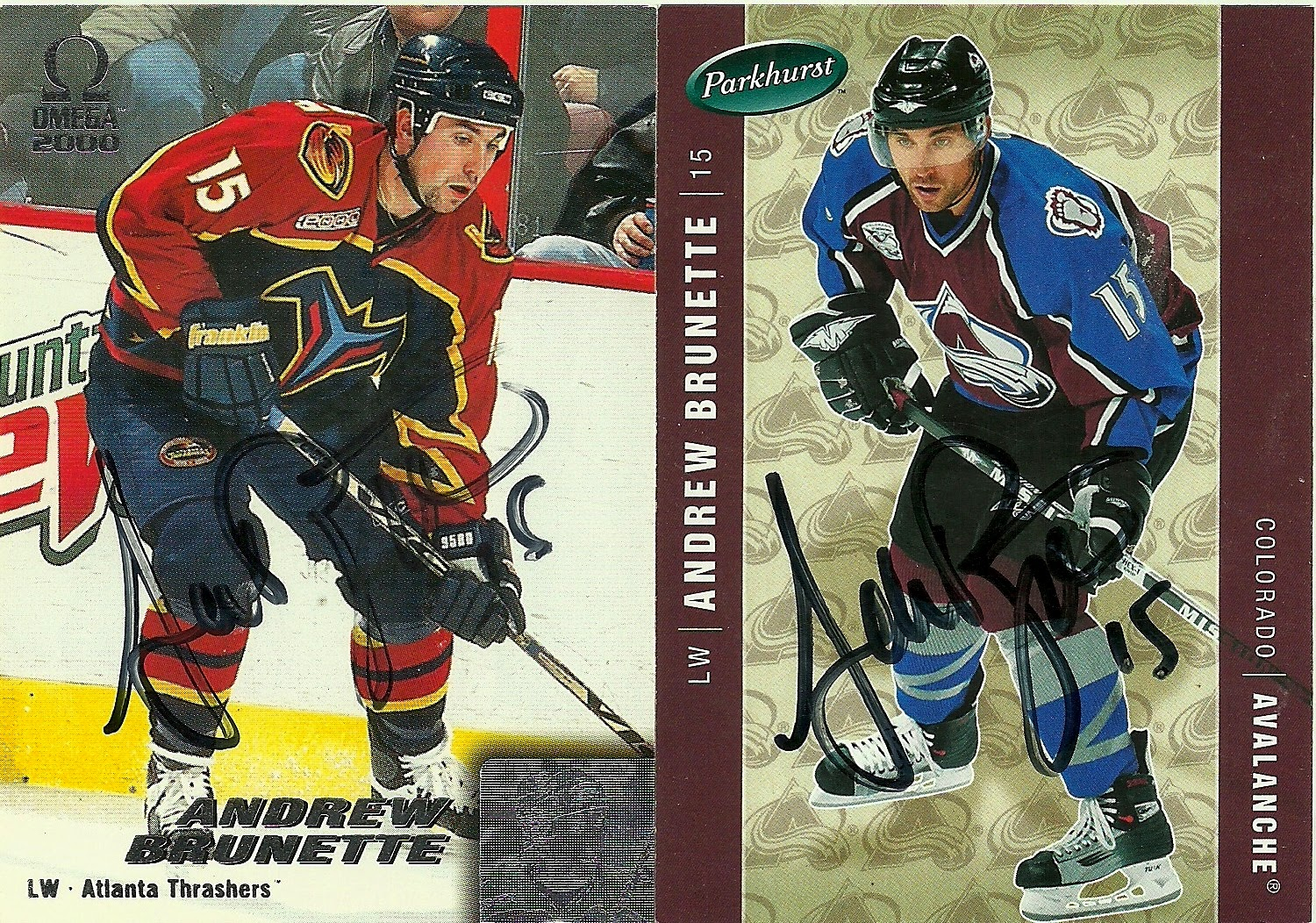 dc42f76e03a Hell s Valuable Collectibles  Andrew Brunette  7 Autographed Cards ...