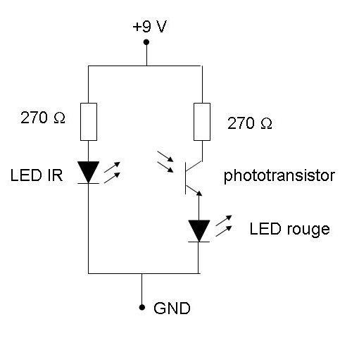 Électronique en amateur: Phototransistor et LED infrarouge