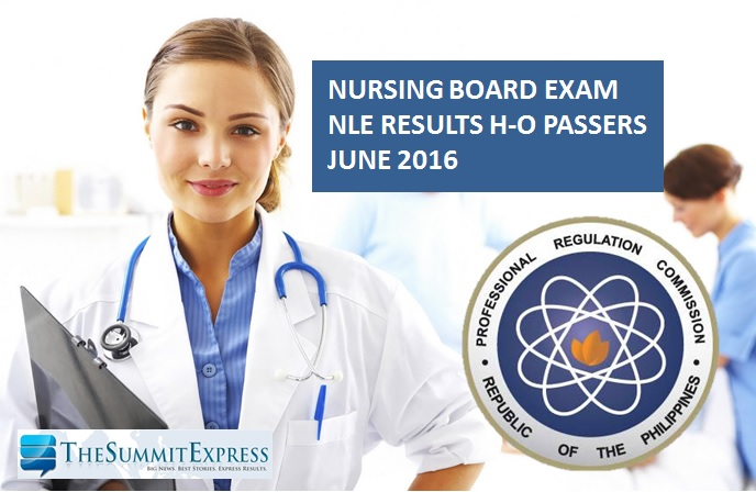 NLE Results June 2016 Alphabetical List