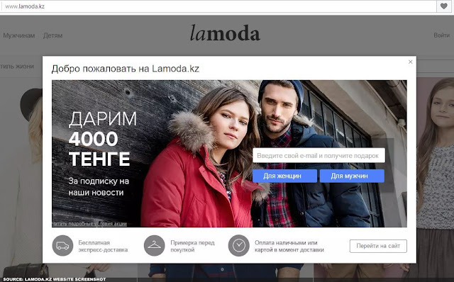 LAMODA.KZ - Screenshot of Kazakhstan's Fashion Retail Website