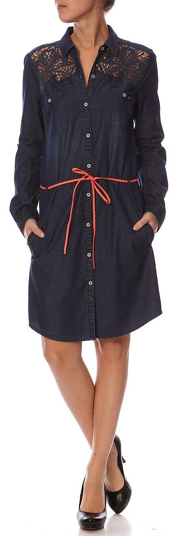 Robe chemise Kaporal bleu foncé