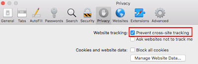 Prevent Site Tracking in Safari on macOS High Sierra
