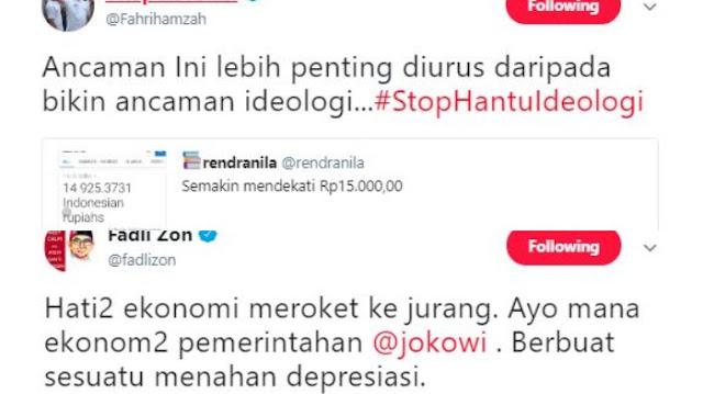 Tanggapi Postingan Fahri, Fadli Zon: Hati-hati Ekonomi Meroket ke Jurang
