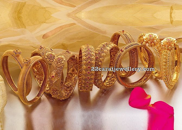 Trendy Antique Floral Bangles