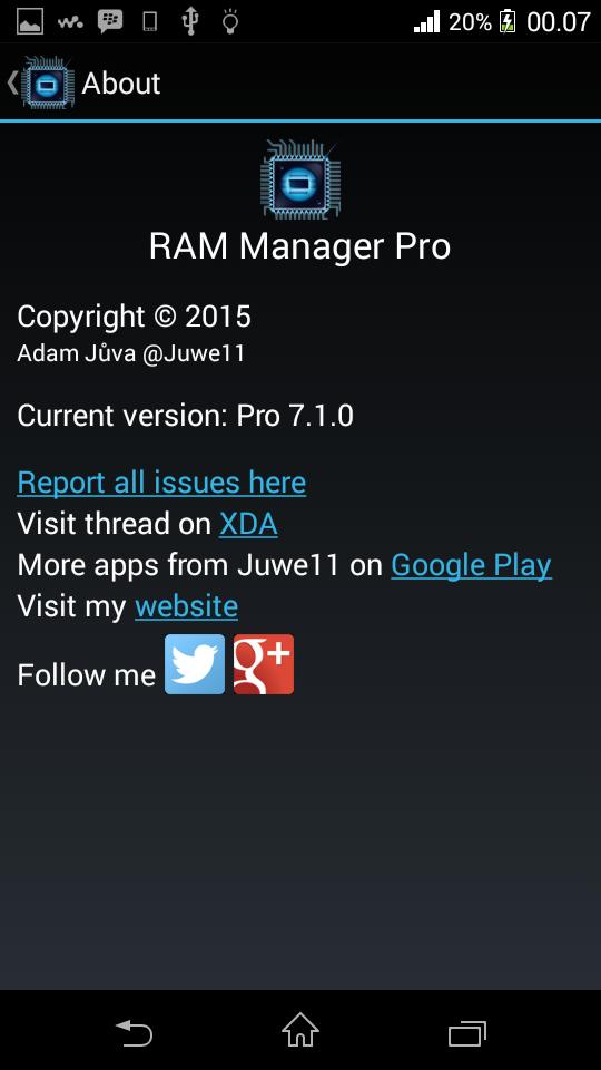 RAM Manager v7.1.0