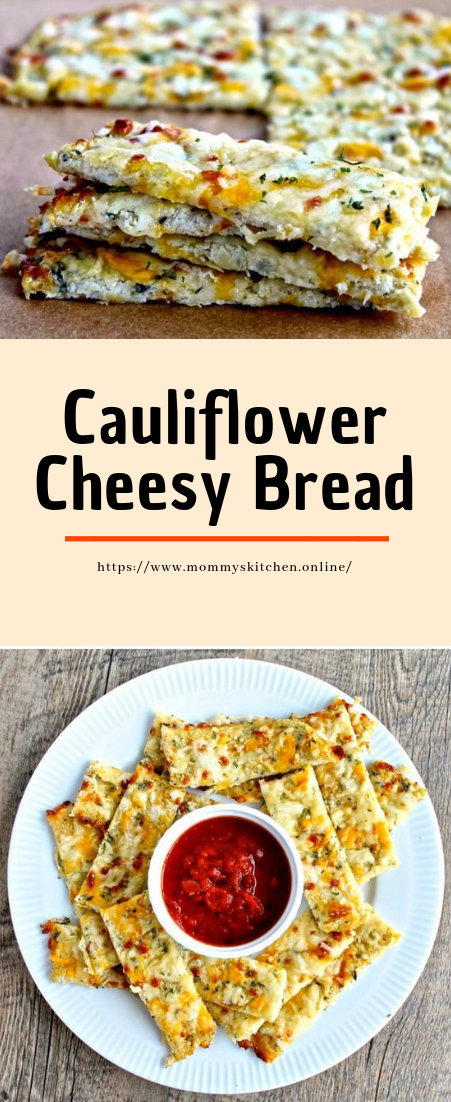 Cauliflower Cheesy Bread #easyrecipe #vegan