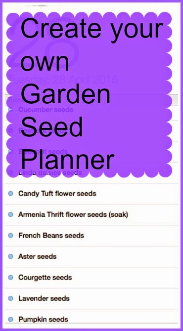 create annual garden seed planner