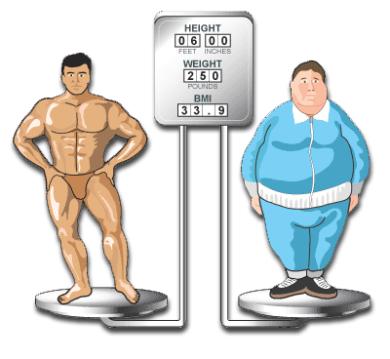 اداة حساب مؤشر كتلة الجسم