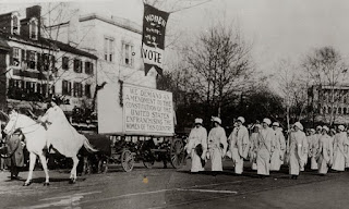 Image Credit: Women Marching in Suffragette Parade, Washington, DC (National Archives)