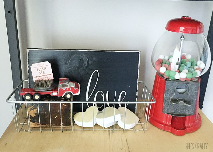 toy truck, gumball machine, hearts, love sing