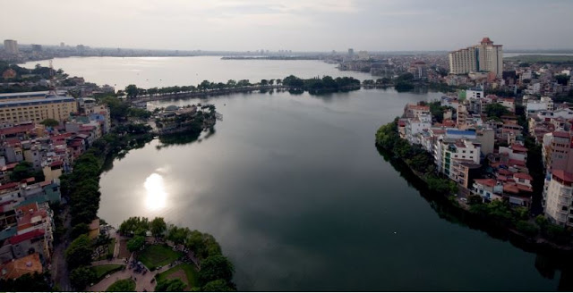 View Hồ Tây từ Ecolife Tây Hồ