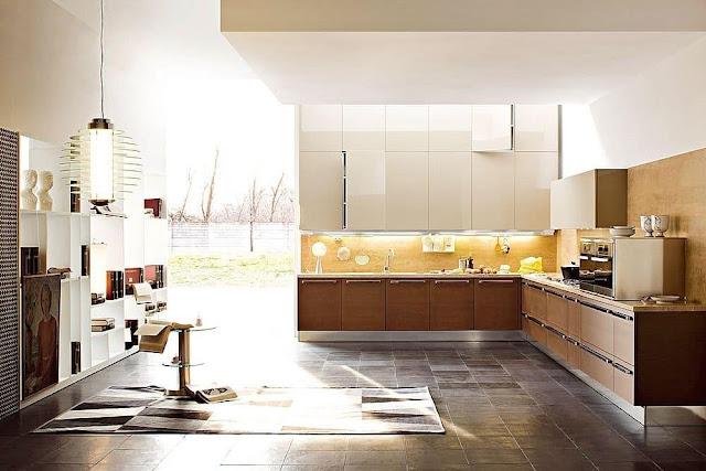 Mẫu Tủ bếp gỗ Laminate mới