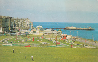 The Oval, Cliftonville, PT4419. Postally used postcard postmarked from Thanet, Kent on the 24 September 1975. By Photo Precision Limited, St. Ives, Huntingdon